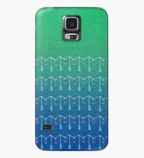 Droplets, Green and Blue Case/Skin for Samsung Galaxy