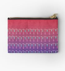 Droplets, Pink and Purple Studio Pouch