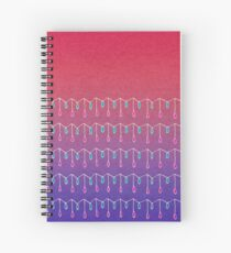 Droplets, Pink and Purple Spiral Notebook