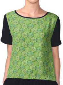 Turtle Scale Chiffon Top
