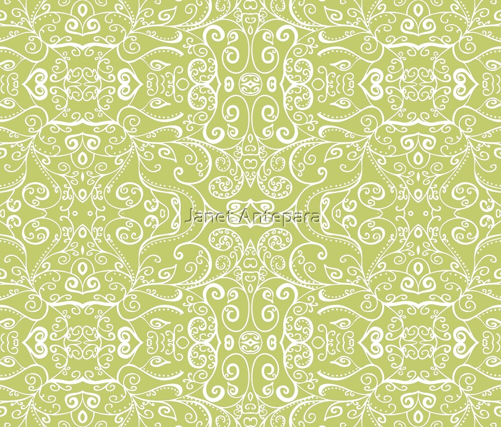 Silent Era, Avocado Green by Janet Antepara