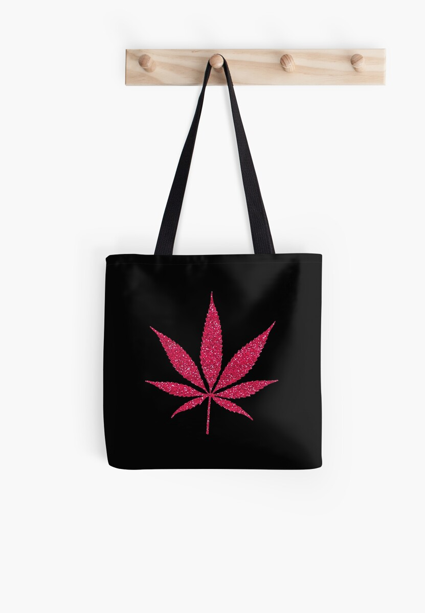 Pink Glitter Cannabis Weed Leaf by limitlezz