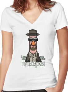I am the one who meeps! Women's Fitted V-Neck T-Shirt