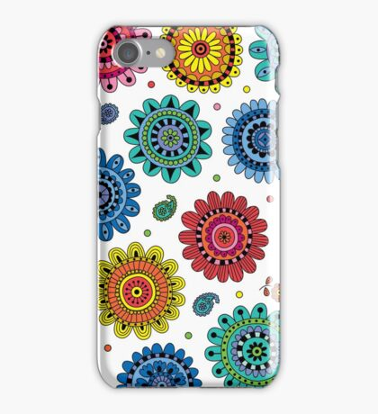 Flowers of Desire white iPhone Case/Skin