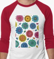 Flowers of Desire white Men's Baseball ¾ T-Shirt