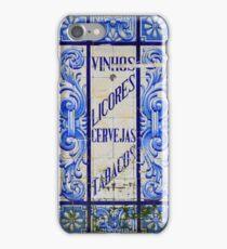 Wines, Spirits, Beers and Tobaccos azulejo iPhone Case/Skin