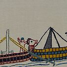 Viking ships arriving by Stamford Bridge Tapestry Project