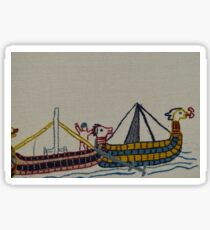 Viking ships arriving Sticker
