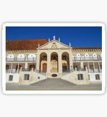 Grand entrance to Coimbra University  Sticker
