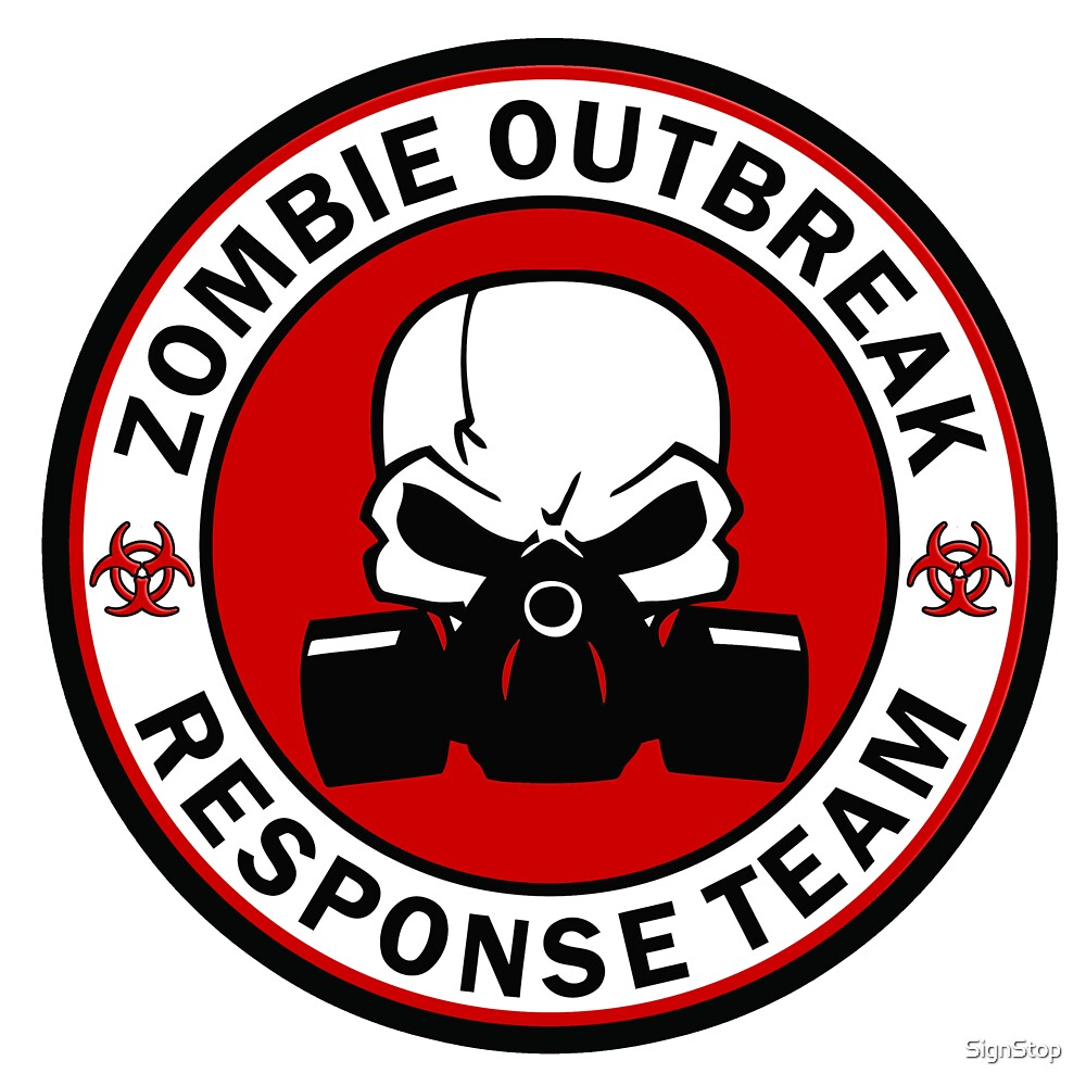 """Zombie Outbreak Response Team Skull Gas Mask"""" by SignStop 