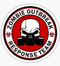 Zombie Outbreak Response Team Skull Gas Mask Sticker