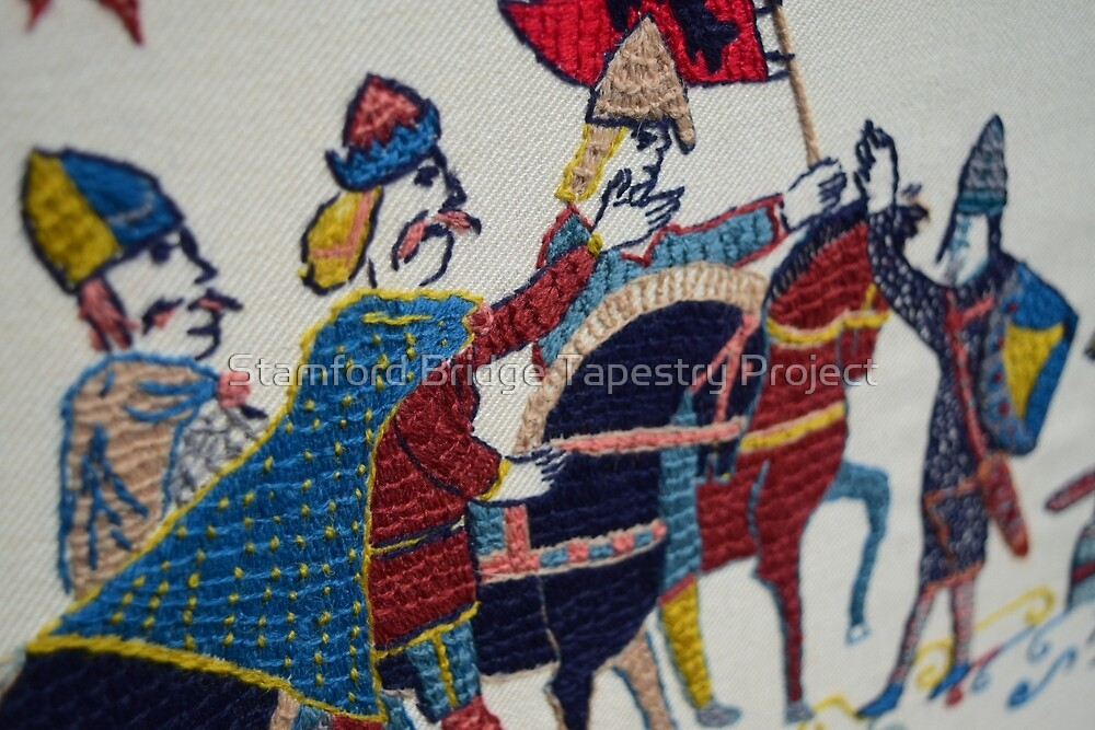 Harald Hardrada makes progress by Stamford Bridge Tapestry Project