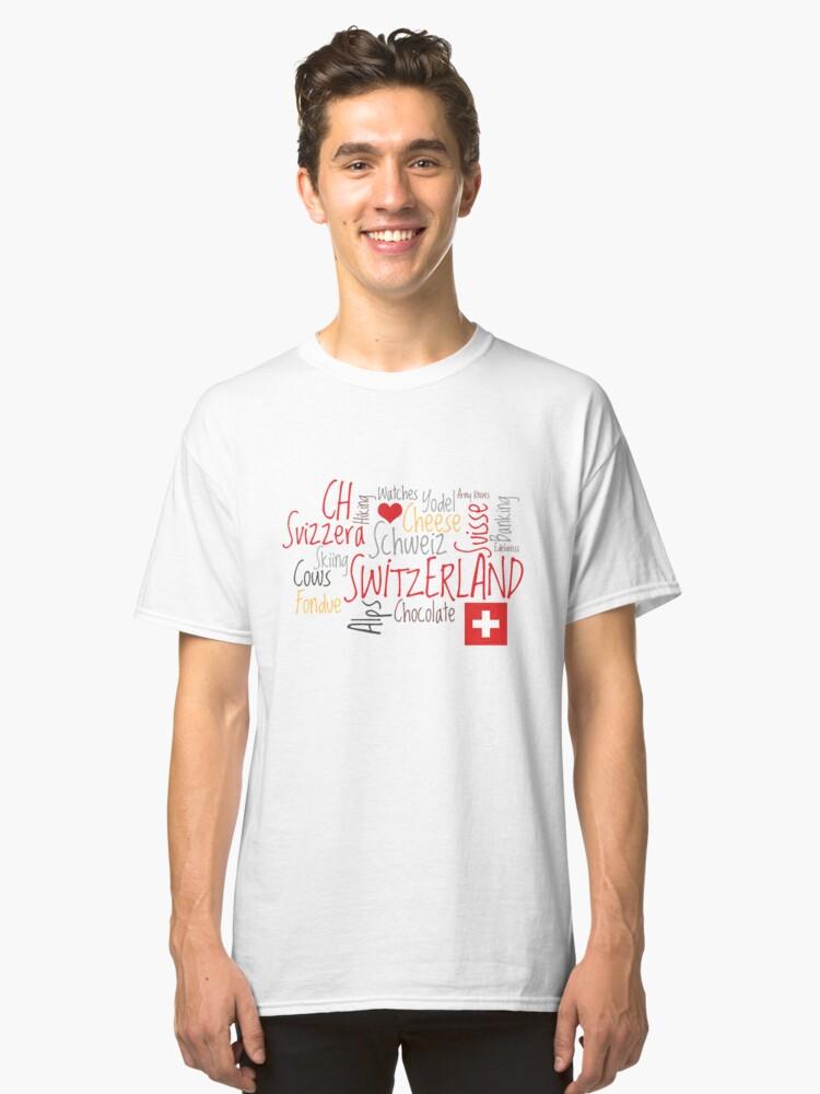 I Love Switzerland Classic T-Shirt Front