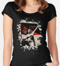 Anarchy Flag Woman - bleached look Women's Fitted Scoop T-Shirt