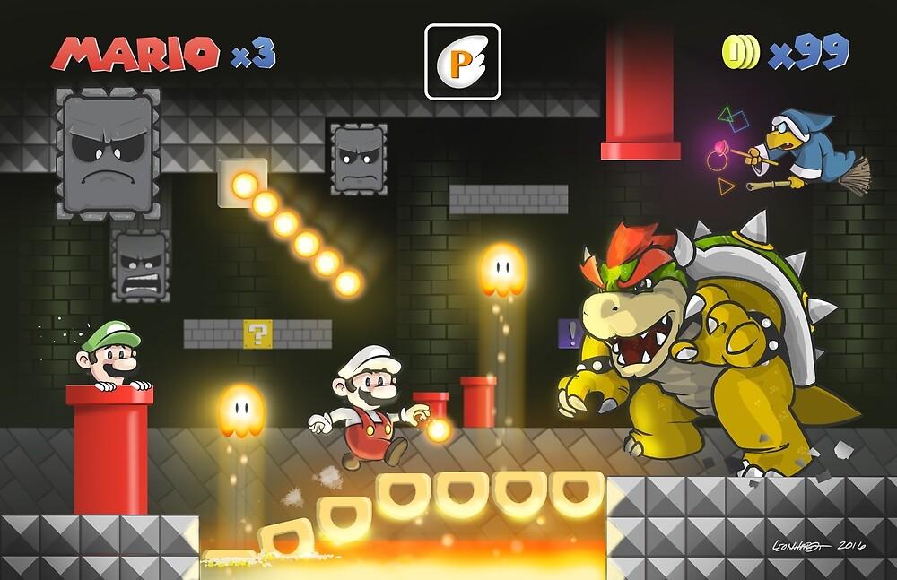 Mario's Super World: Bowser's Castle by Adam Leonhardt
