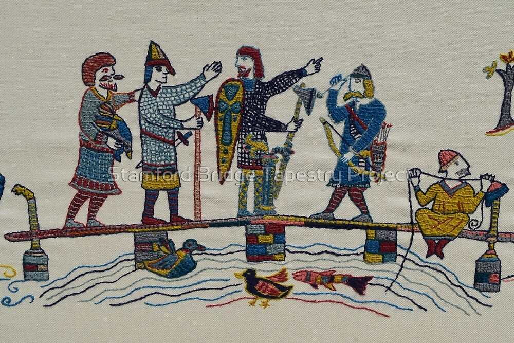 On the bridge by Stamford Bridge Tapestry Project