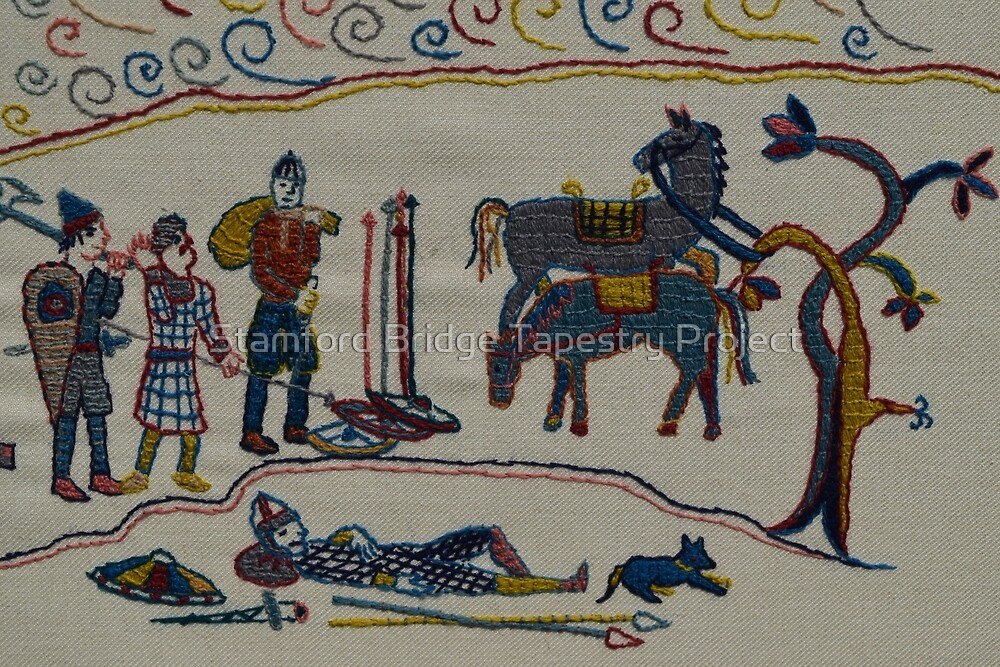 Resting by the river by Stamford Bridge Tapestry Project