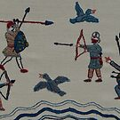 Archers and birds by Stamford Bridge Tapestry Project