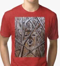 Deer Painting Design Tri-blend T-Shirt