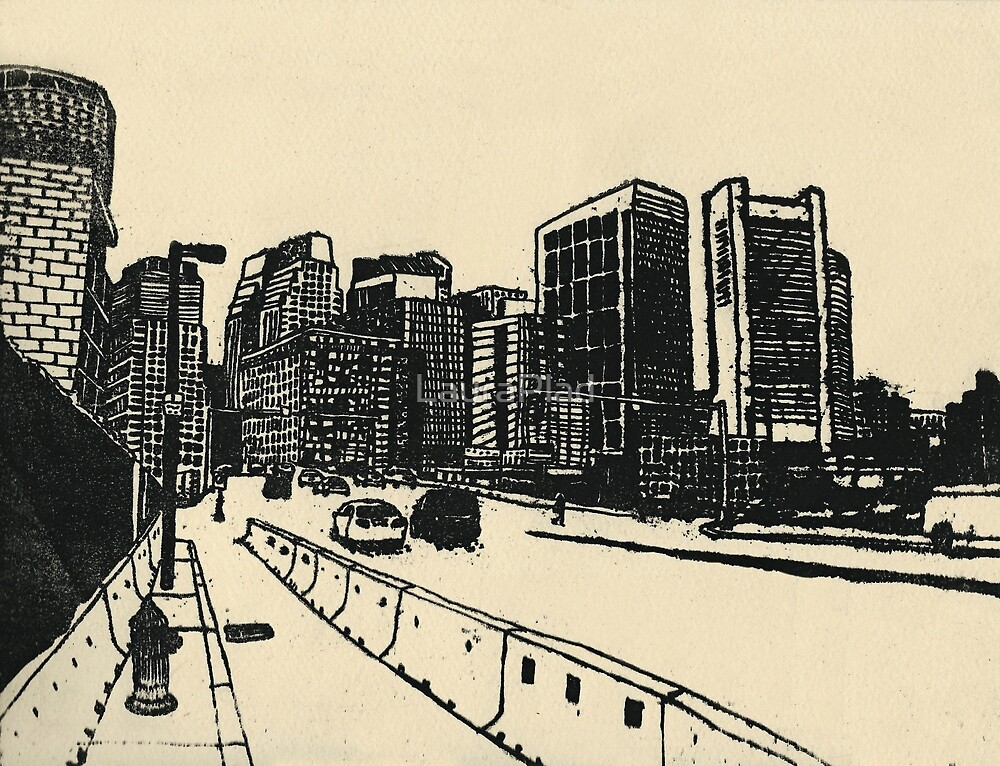 Boston Ink Print by LauraPlad