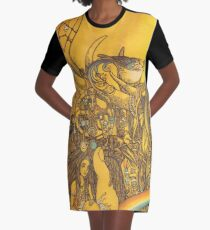 Transformation Graphic T-Shirt Dress
