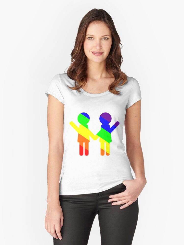 Two lesbians Women's Fitted Scoop T-Shirt Front