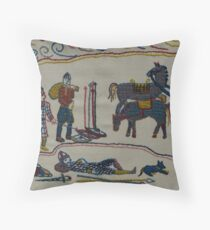Resting by the river Throw Pillow