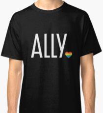 Ally pride (white) Classic T-Shirt
