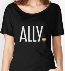 Ally pride (white) Women's Relaxed Fit T-Shirt