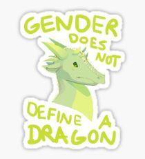 Gender Does Not Define Dragons Sticker