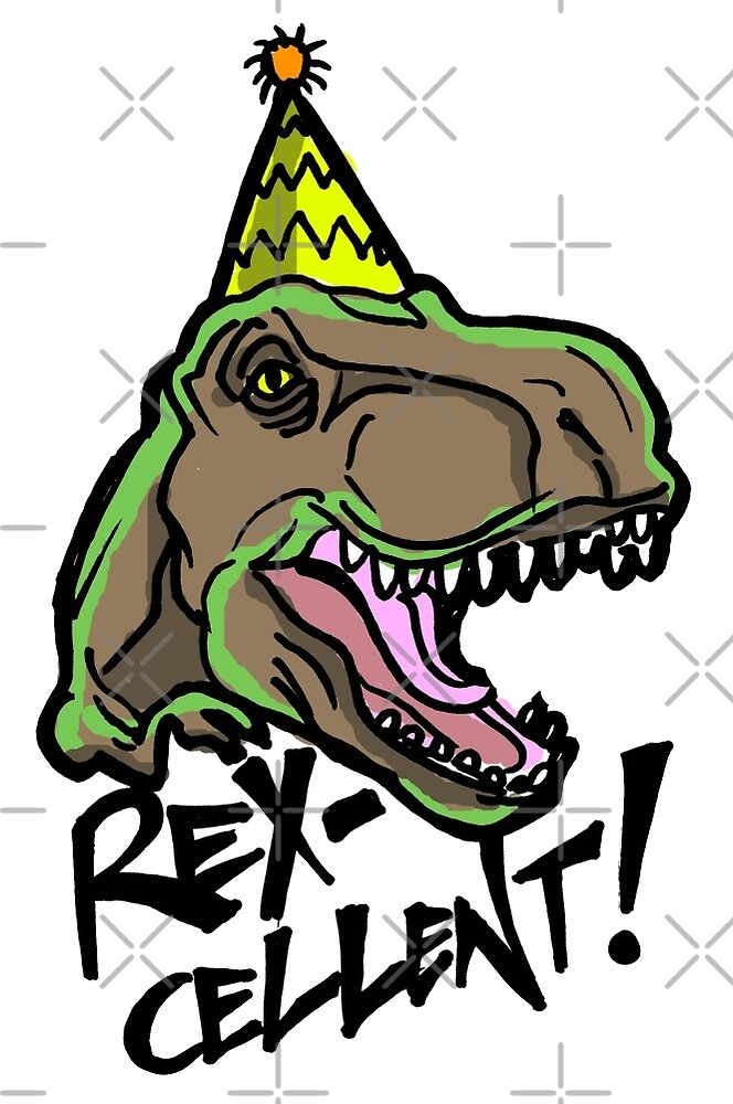 Rex-Cellent Dinosaur Theme Party for Kids and Adults Tyrannosaurus by sketchNkustom
