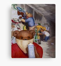 Tagger Teddy Canvas Print