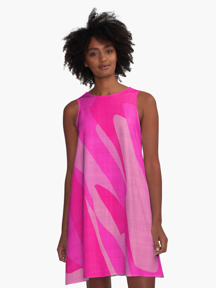 Pink Camo A-Line Dress Front