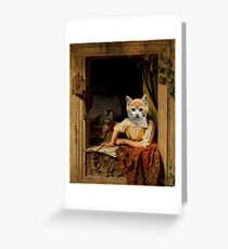 The Kitten Violinist - Anthropomorphic Composite Greeting Card