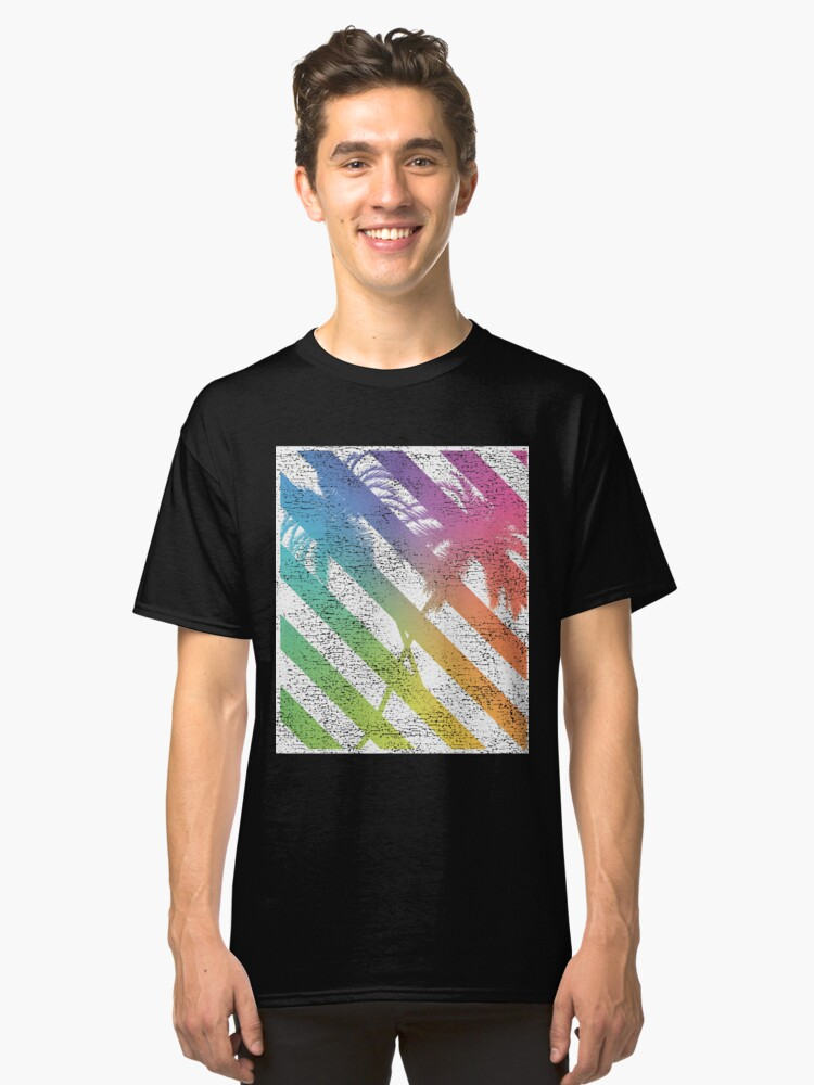 PALM TREE SILHOUETTE T-shirt / Vintage Look Classic T-Shirt Front