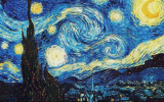 Lego Starry Night by David Luna