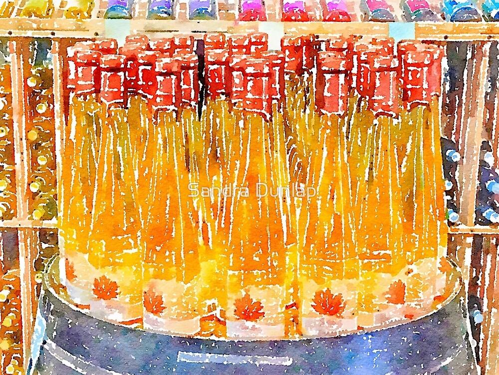 Wine bottles by Sandra Dunlap