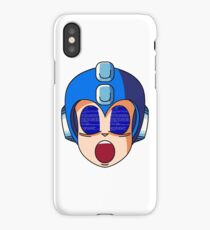 Mega Man Blue Screen iPhone Case/Skin