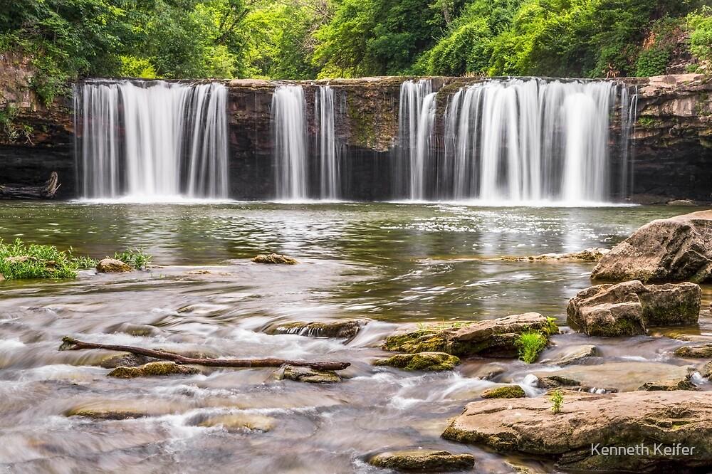 Waterfall on Ludlow Creek by Kenneth Keifer