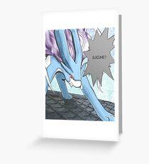 Suicune Manga Edit Greeting Card