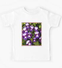 """ART DECO PETUNIA"" Colorful Flower Print Kids Tee"