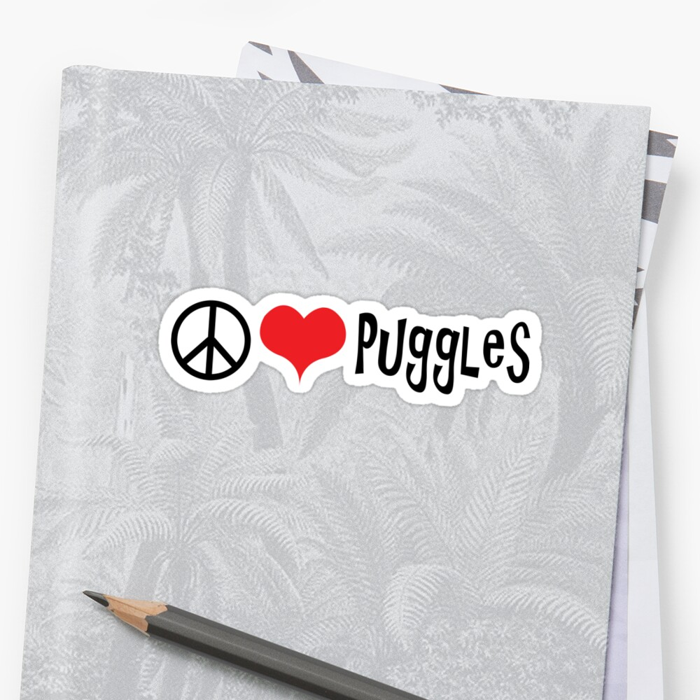 Peace, Love and Puggles. by RBBeachDesigns