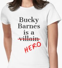 Bucky Barnes is a Hero Womens Fitted T-Shirt