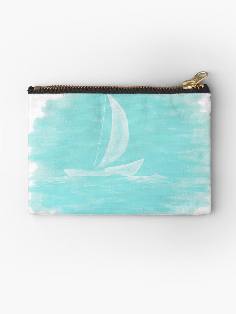 Blue Sailing Painting by karriezenz