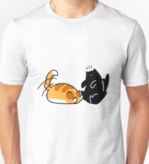 Playful Tabby and Black Cat T-Shirt