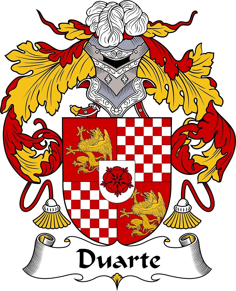 Duarte Coat of Arms/ Duarte Family Crest by William Martin