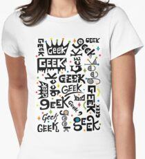 Geek Words Womens Fitted T-Shirt