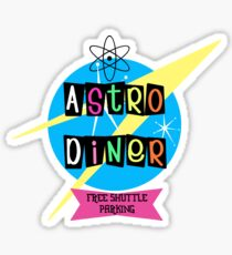 Astro Diner sign Sticker