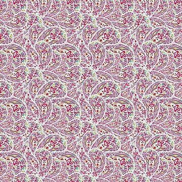 Ethnic Pattern Pink Hand Drawn by HelgaGraf