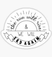 ..::try again::.. Sticker